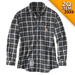 Carhartt Flame Resistant Plaid Shirt in Moss