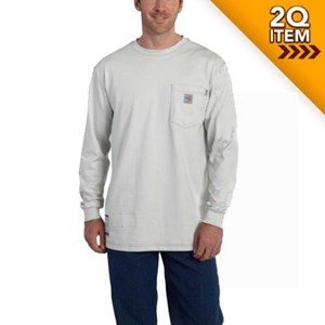 FR Force Cotton Long Sleeve T-Shirt in Gray