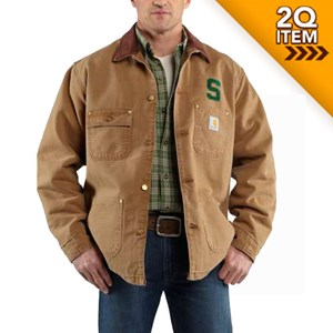 Michigan State Weathered Chore Coat