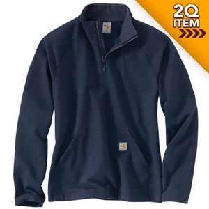 FR Force Fleece Quarter-Zip in Navy