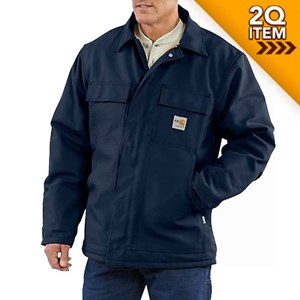 Carhartt FR Duck Traditional Quilt-Lined Coat in Navy