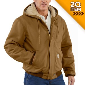 Quilt-Lined FR Duck Active Jacket in Carhartt Brown