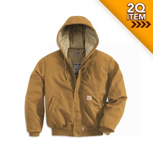 Quilt-Lined FR Midweight Active Jacket in Carhartt Brown