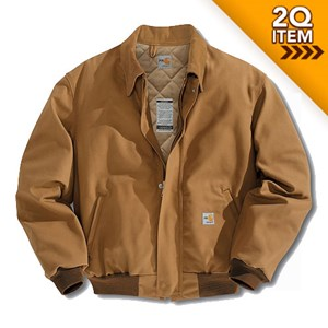 Quilt-Lined FR Duck Bomber Jacket in Carhartt Brown