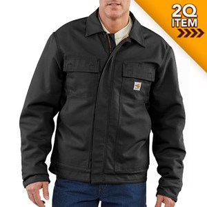Quilt-Lined Midweight FR Lanyard Access Jacket in Black