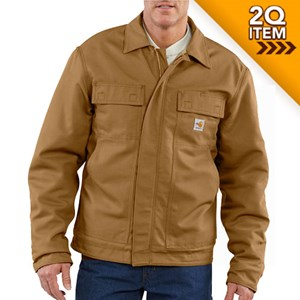 Quilt-Lined Midweight FR Lanyard Access Jacket in Carhartt Brown