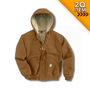 Women's FR Midweight Canvas Active Jac in Carhartt Brown
