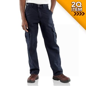 FR Canvas Cargo Pant in Navy