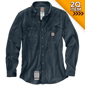 Carhartt FR Force Cotton Hybrid Shirt in Navy