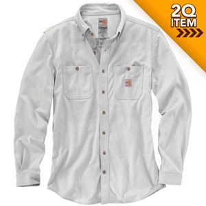 Carhartt FR Force Cotton Hybrid Shirt in Light Gray