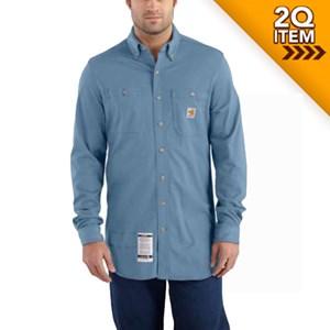 Carhartt FR Force Cotton Hybrid Shirt in Medium Blue