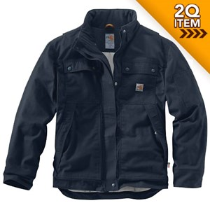 Carhartt FR Full Swing Quick Duck Coat in Navy