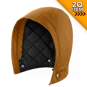 Quilt Lined Sandstone Hood in Carhartt Brown