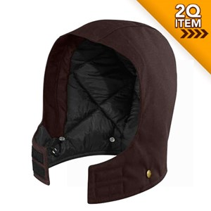 Carhartt Arctic Quilt Lined Sandstone Hood in Dark Brown