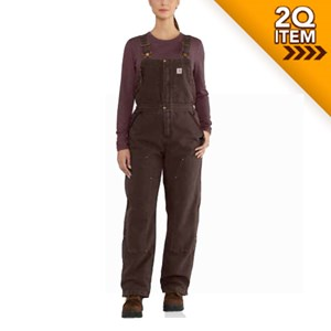 Ladies Wildwood Bib Overalls in Dark Brown