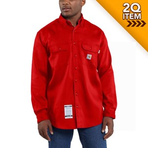 Carhartt FR Moisture Wicking Twill Shirt in Red
