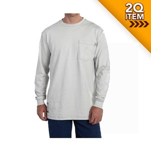 FR Force Cotton LS T Shirt in Gray