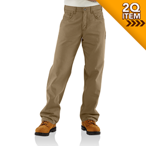 Carhartt Canvas FR Work Pant in Khaki