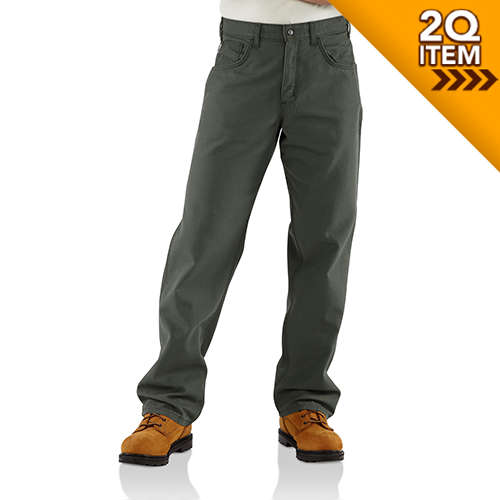 Carhartt FR Canvas Pant in Moss