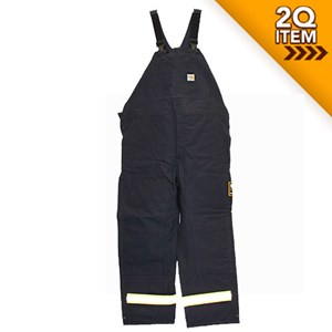 Duck FR Bib Overall in Navy Blue with Reflective Trim