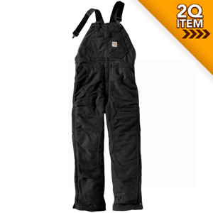 Unlined Flame Resistant Duck Bib Overall in Black