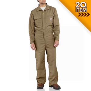 Flame-Resistant Midweight Canvas Coverall / Unlined