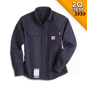 Carhartt Womens FR Twill Shirt in Navy