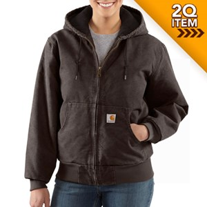 Women's Carhartt Active Jac in Dark Brown
