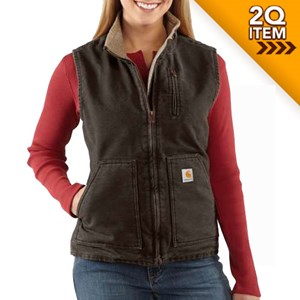 Women's Mock Neck Vest in Dark Brown