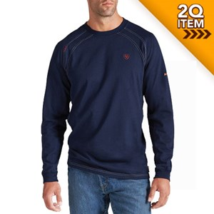 Ariat FR Long Sleeve Work Crew in Navy 21bc82d28