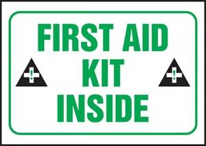 3 1/2 X 5 First Aid Kit Inside Sticker