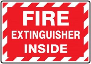 """3 1/2"""" x 5"""" Fire Extinguisher Sticker"""