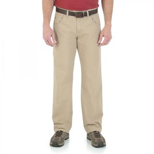 Wrangler Rugged Wear Relaxed Straight Fit Pants in Khaki