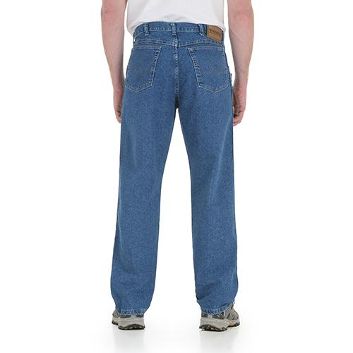 Back View : Stonewashed Flex Denim Jean