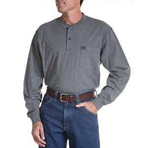 Long Sleeve Cotton Work Henley