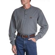 Long Sleeve Cotton Work Henley