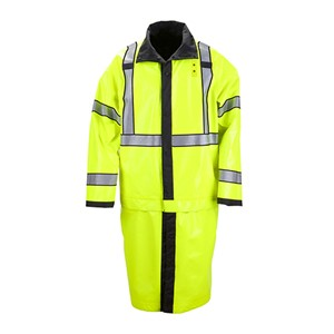Long Reversible Hi-Vis Rain Coat
