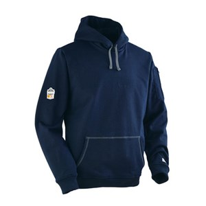 FR Pullover Hooded Fleece Sweatshirt in Navy