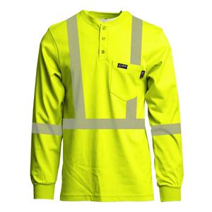 Class 2 7oz. FR Hi-Vis Henley Shirt