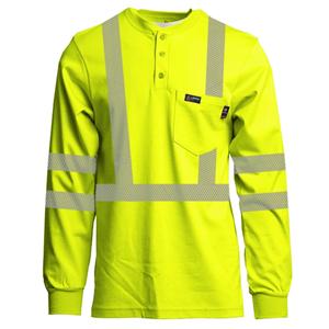 Class 3 7oz. FR Hi-Vis Henley Shirt