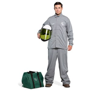 OEL 12 Cal FR Shield Jacket and Bib Overalls Arc Flash Kit w/Hard Hat