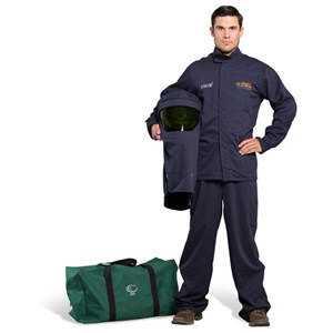 OEL 25 Cal FR Shield Jacket and Bib Overalls Arc Flash Kit