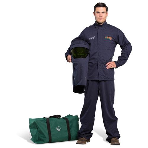 OEL 25 Cal FR Shield Jacket and Bib Overalls Arc Flash Kit