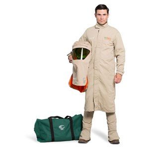 OEL 40 Cal FR Shield Long Coat Arc Flash Kit