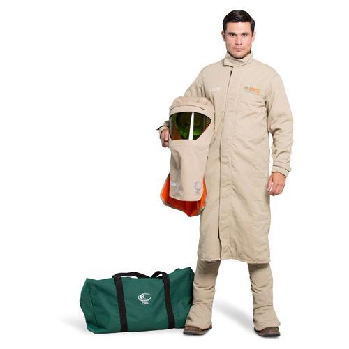 OEL 40 Cal FR Shield Long Coat Arc Flash Kit