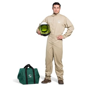 OEL 8 Cal Shield Coverall Kit w/Hard Hat