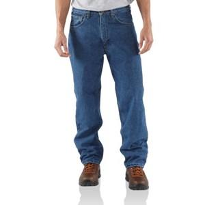 Carhartt Men's Relaxed Fit Jean - Straight Leg/Fleece
