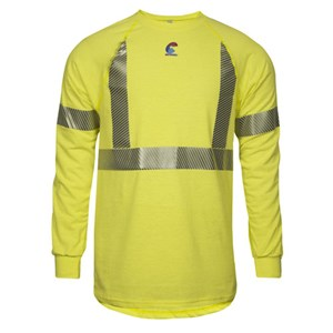 Hi-Vis FR Control 2.0 Long Sleeve Base Layer Tee - Class 2