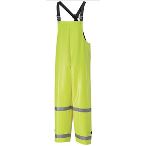 Hi-Visibility Flame Resistant Rain Bib Overall