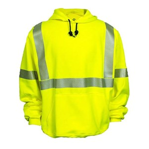 FR Hi-Vis Hooded Pullover Sweatshirt in Reliant Fleece